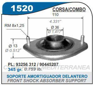 CHEVROLET CORSA/ COMBO DELANTERA_