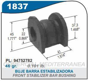 CHEVROLET AGILE/MONTANA 11/..BARRA ESTABILIZADORA